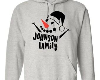 Family Christmas Sweatshirt Set, Custom Text on Sweatshirt, Toddler Sweatshirt, Custom Sweater, Christmas Gift Ideas
