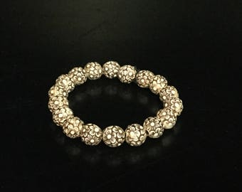 Men's bracelet - brown beads