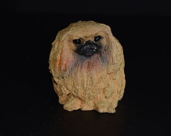 Sandicast PEKINGNESE small size sculpture, DOG Figurine, Statue, Hand Painted, Resin, Replica Realistic, Pet Lovers, figurine, Collectible