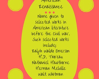American Renaissance.. literary term poster downloadable art print