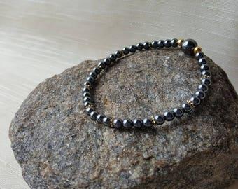4mm Hematite bracelet - Root chakra/Muladhara