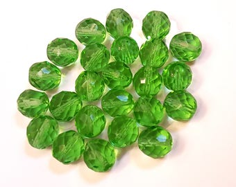 perles cristal de Bohême pour créations de bijoux 12mm