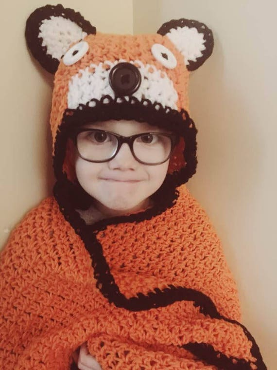 Clever Fox Hooded Blanket