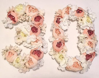 30th Birthday, 30th Birthday Photo Prop, Flower Letters, Flower Numbers, Baby Shower, Photography Prop, Floral Numbers, Floral Letters