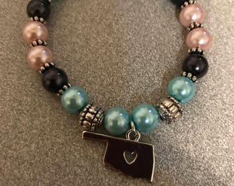 Oklahoma bead bracelet