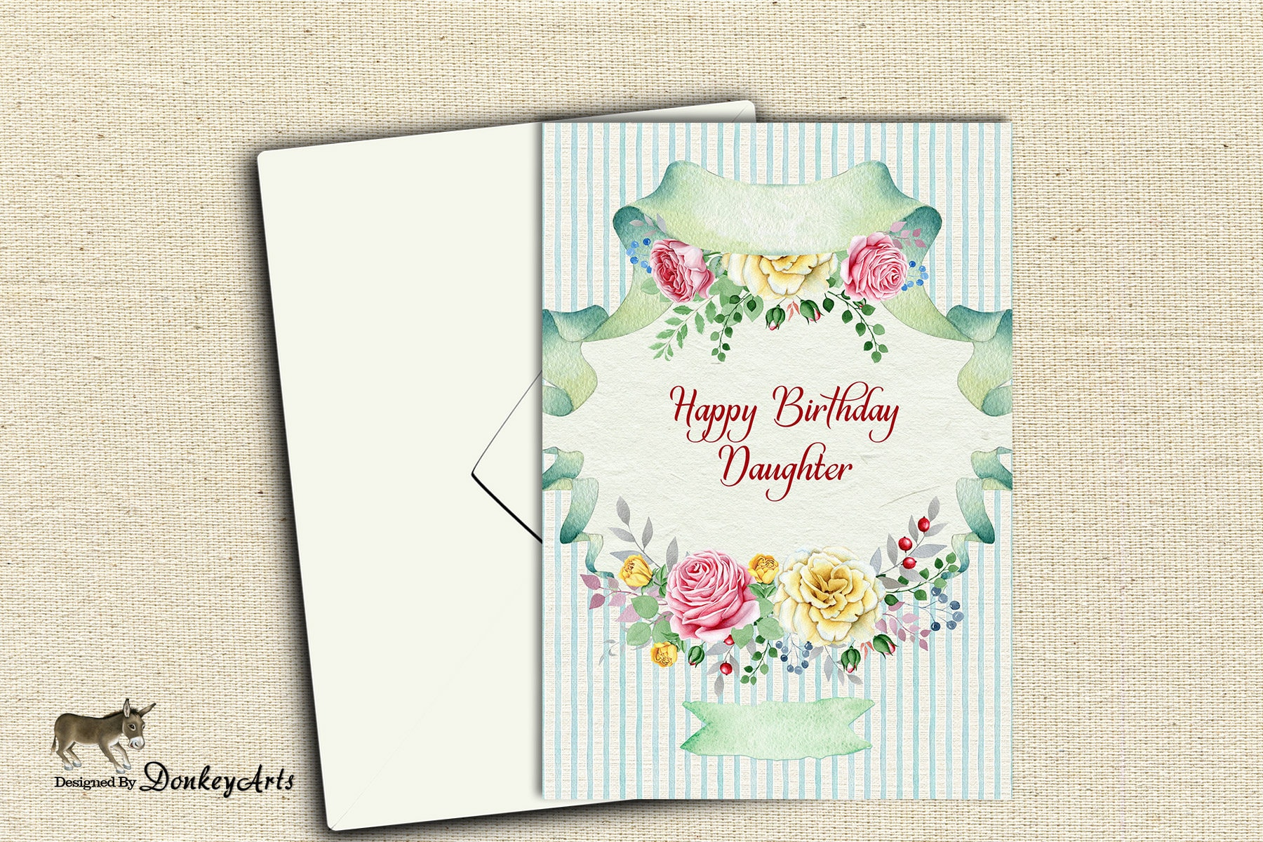Happy Birthday Daughter Card With Flowers Printable Birthday