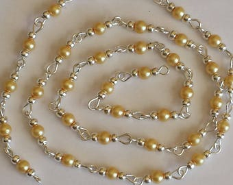 55cm of string/champagne glass Pearl 4mm beads