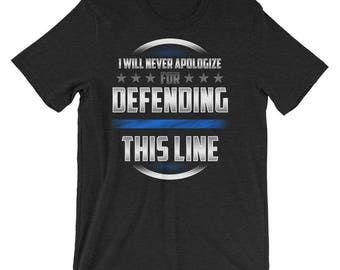 Thin Blue Line Law Enforcement Support Police Officer Short-Sleeve Unisex T-Shirt