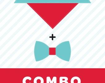 COMBO - bandana & bow tie of your choice