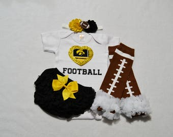 iowa hawkeyes college football baby girl outfit -  baby girl iowa hawkeyes outfit - iowa hawkeyes football baby girl - iowa hawkeyes baby