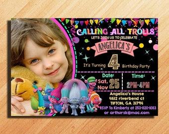 Trolls Birthday Invitation, Trolls Invitation, Trolls Birthday Party, Trolls Birthday, Trolls Party Invitation, Trolls, Trolls Party Ideas