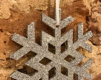 Snowflake Christmas decoration x5