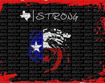 TX Strong Hurricane Harvey SVG