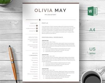 Modern Resume  | Resume Template | Creative Resume | Modern Resume | Teacher Resume | Professional Resume | Cover Letter | 1, 2 Page Resume