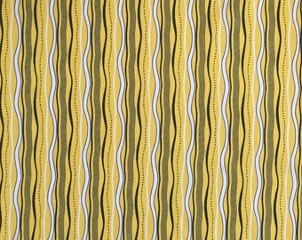 Stripe Cotton Fabric, Yellow Stripe  Fabric, Fabric by the Yard, Quilting Fabric, Apparel Fabric, Striped Fabric