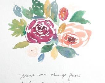 Always Flowers 9X12 Print