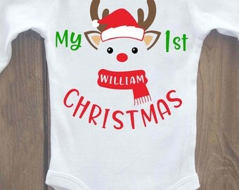 My 1st christmas onesie, My first christmas onesie, my first christmas, my 1st christmas, christmas onesie, first christmas, christmas shirt