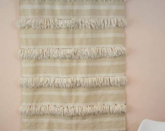 Hendira Wedding Blanket Natural sheep wool