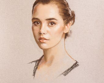 Custom Portrait Painting, Portrait to Order, Portrait Painting, Pastel Drawing, Original Handmade Gift, Personal Gift, Present, Artwork