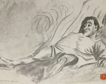 The injured by honore daumier