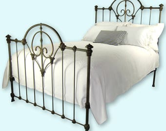 antique cast iron bed frame full double size antique cast iron bedframe antique wrought