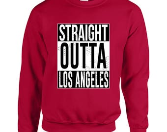 Straight Outta Los Angeles Adult Unisex Designed Sweatshirt Printed Crew Neck Sweater for Women and Men