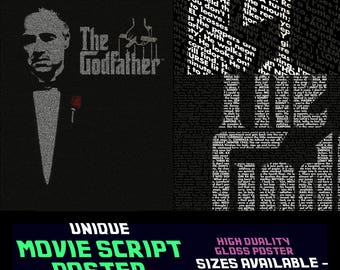 The Godfather  - Francis Ford Coppola - Movie Script Posters & Prints - Entire Script !!
