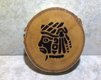 Aztec Warrior on Birch