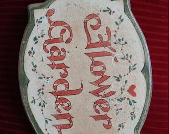 Vintage Wooden hand painted sign.