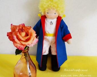 Little Prince waldorf dol,l 10 inch, doll for boy, steiner doll textile doll rag doll organic doll gift for boy, ooak doll, waldorf inspired