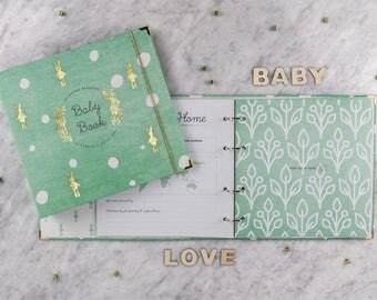 BABY MEMORY BOOK| Baby Shower Gift | Baby Album | Baby Book | Baby Book Binder | Binder | Baby Journal | Baby Milestone Book | Baby Keepsake