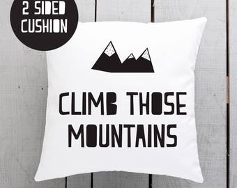 kids motivation, childs inspiration, mountain cushion, nordic playroom, scandi rumpus room
