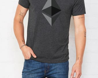 Ethereum T shirt LOGO Inspired • Cryptocurrency t shirt • Cryptocurrency tshirt • Shirt Bitcoin • Ethereum tshirt • Bitcoin tshirt
