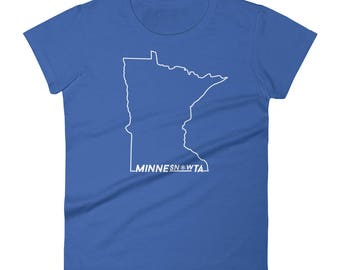 MinneSNOWta Cold Snowy Winters Tee - Minnesota Fans Life Women's Short Sleeve T-Shirt