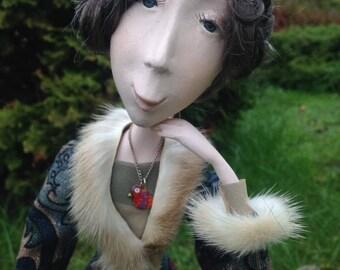 Agota handmade art doll Laisves dolls
