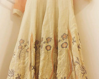 Hand embroidered Indian style grand party/wedding/ball gown