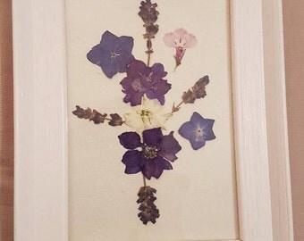 Handmade pressed flower frame