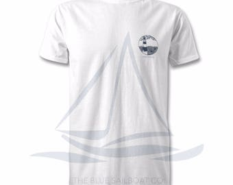 Nautical Edition Lighthouse All Sizes T-Shirt, Harbour, Coastal Print, Nautical, Beach, Surf T-Shirt, By The Sea, All Sizes, Ocean Print