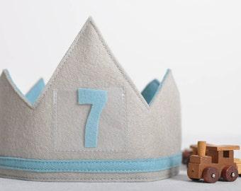 100% Wool Birthday Crown - BLUE