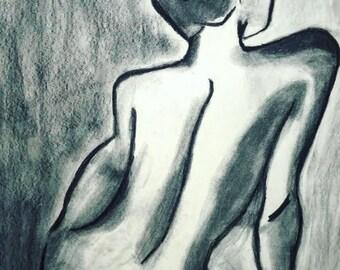 Black and White Silhouette of Femininity