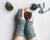 Chunky Fingerless gloves, Gift for wife, Arm warmers, Chunky gloves, Merino gloves, Chunky knit gloves, Womens gloves, Mittens, wrist warmer