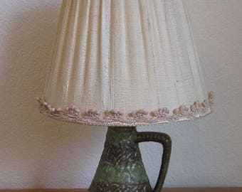 West Germany lamp Table lamp ceramic with lampshade lampshade
