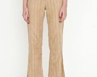 VINTAGE Brown High Waisted Wide Leg Retro SIDONAS ir CO Trousers