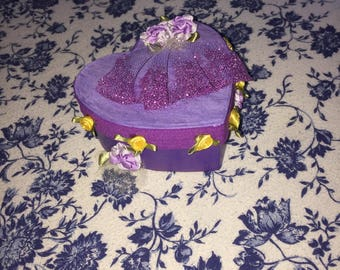 Handmade Princess Rapunzel HeartShaped box