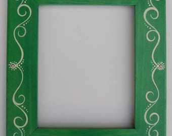Original Hand Painted & Hand Crafted 8 X 10 Picture Frame