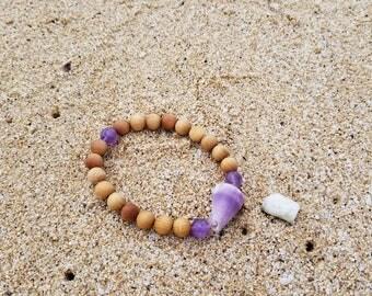 Purple cone shell bracelet