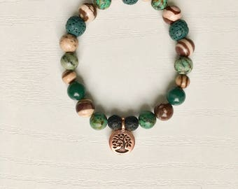 Tree of Life Charm Diffuser Bracelet