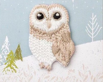 Owl Patch,Iron on Patch,Embroidered Applique,Christmas Gifts