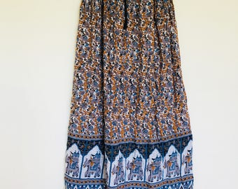 Indie Elephant Maxi Skirt