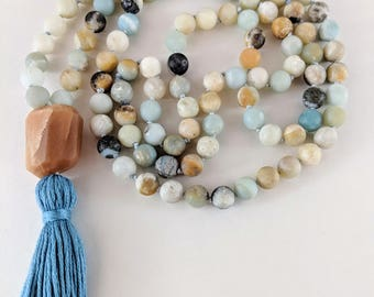 108 Bead Hand Knotted Mala Necklace